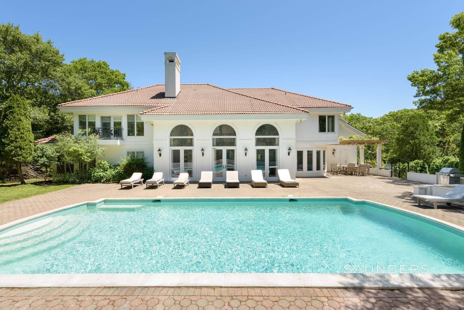 Single Family Homes at Water Mill Mediterranean Style Villa Water Mill, Southampton Town, NY 11976