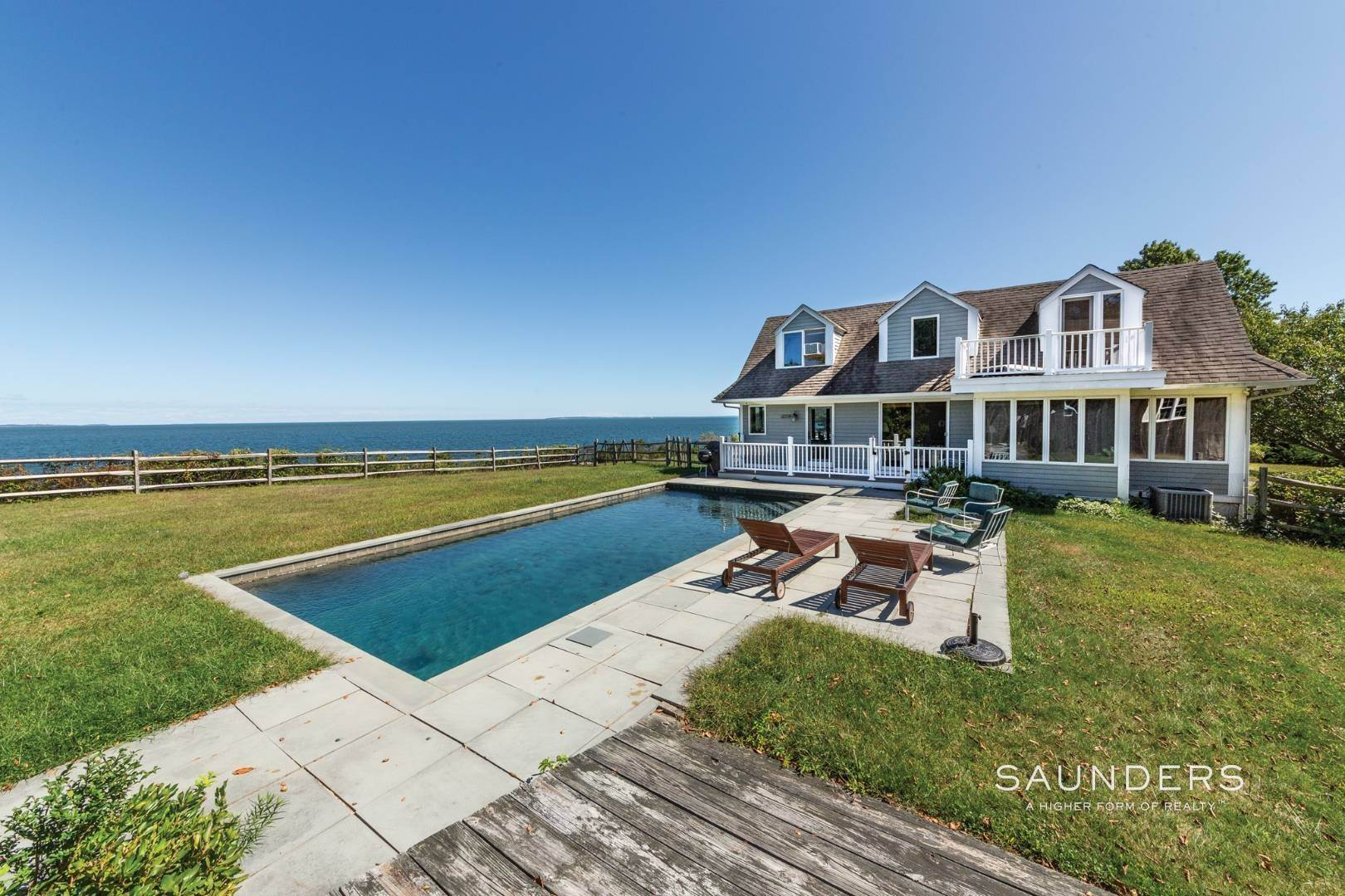 Single Family Homes at Stunning Shelter Island Little Ram Waterfront With Pool Shelter Island Heights, Shelter Island, NY 11964
