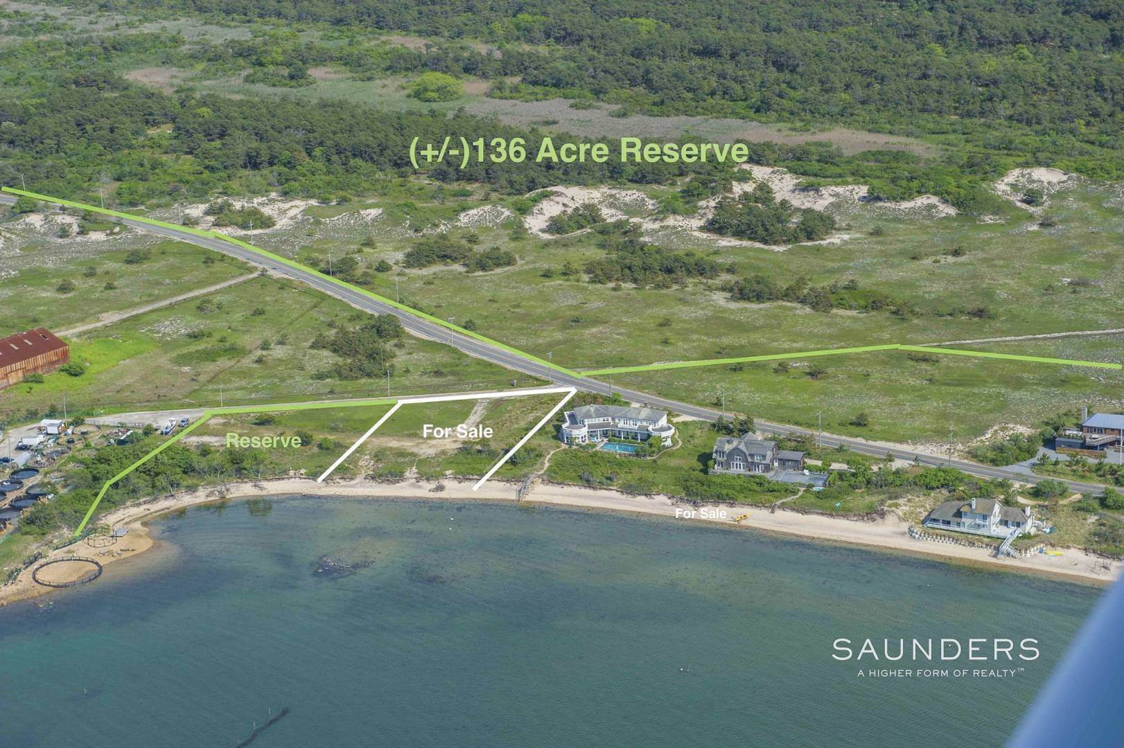 Land for Sale at Bayfront - Big Open Water Sunsets - Gardiners Island Views 425 Cranberry Hole Road, Napeague, East Hampton Town, NY 11930