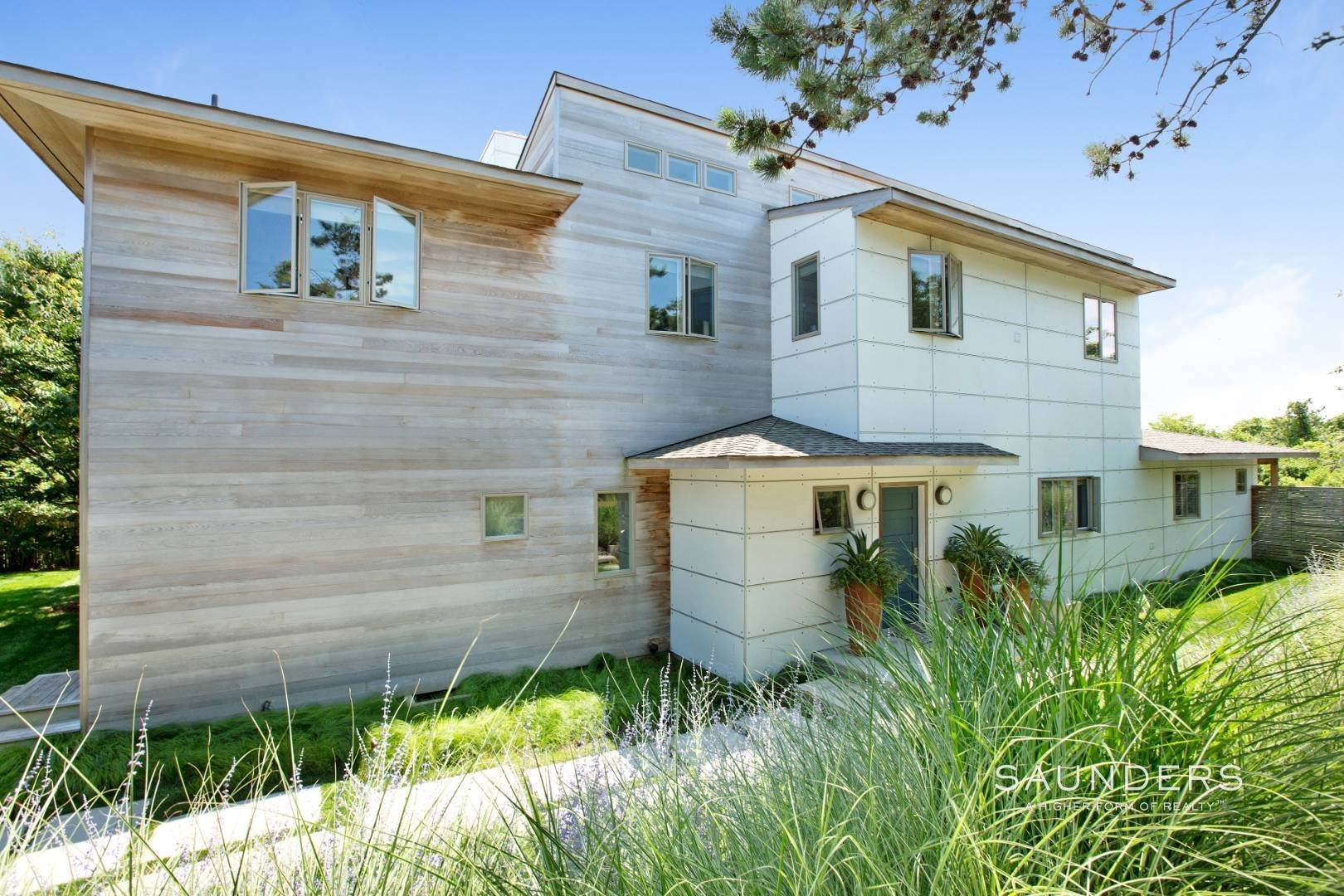 Single Family Homes at Chic Amagansett Modern In The Dunes By Ocean 8 Treasure Island Drive, Amagansett, East Hampton Town, NY 11930
