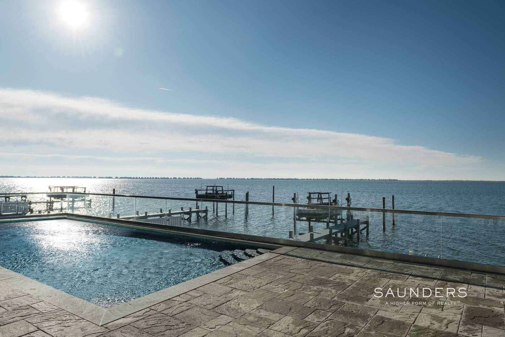 2. Single Family Homes at What A View! Gorgeous Summer Retreat--Sunsets, Pool & Boat Lift 9 Seatuck Lane, Remsenburg, Southampton Town, NY 11960