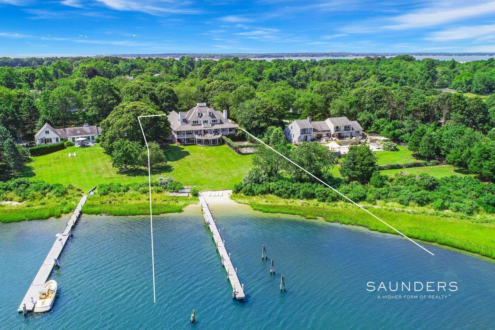 Single Family Homes for Sale at Estate Section Compound With Deep Water Dock, Sandy Beach, Pool 58 Westmoreland Drive, Shelter Island Heights, Shelter Island, NY 11964