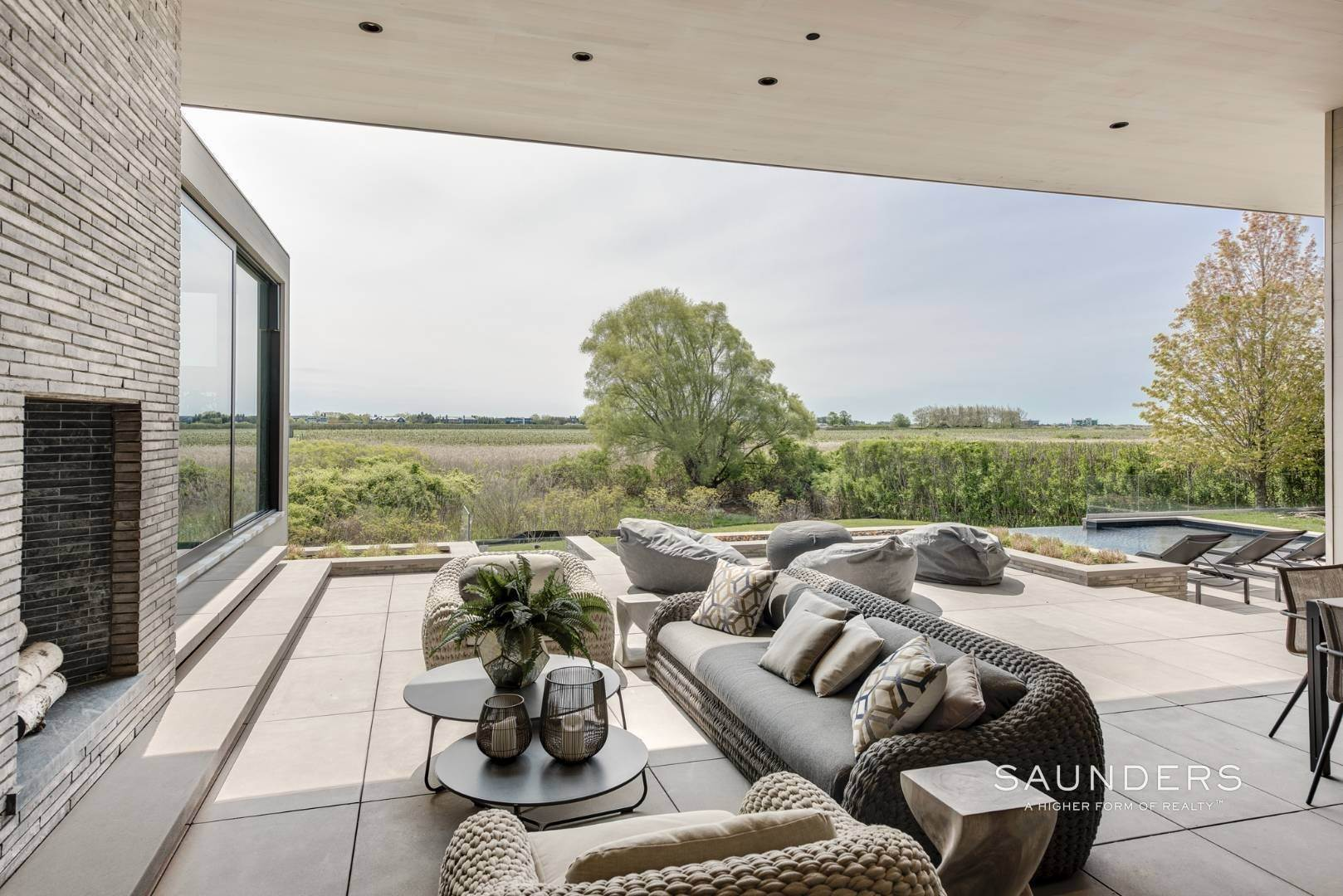 21. Single Family Homes for Sale at Modern Perfection, Sweeping Bay And Ocean Vistas 82 Wheaton Way, Water Mill, Southampton Town, NY 11976