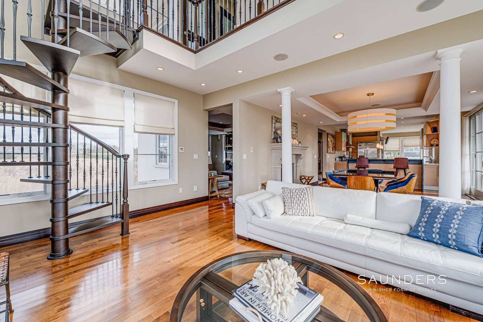 13. Single Family Homes for Sale at Celebrate Nature's Beauty: Sunsets, Water Views, Pool & Dock 5 Bay Meadow Lane, Westhampton, Southampton Town, NY 11977