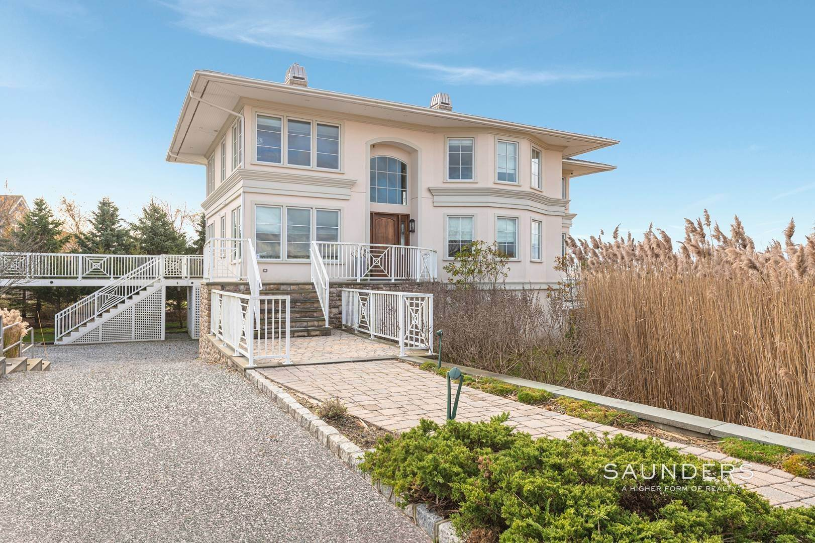 5. Single Family Homes for Sale at Celebrate Nature's Beauty: Sunsets, Water Views, Pool & Dock 5 Bay Meadow Lane, Westhampton, Southampton Town, NY 11977