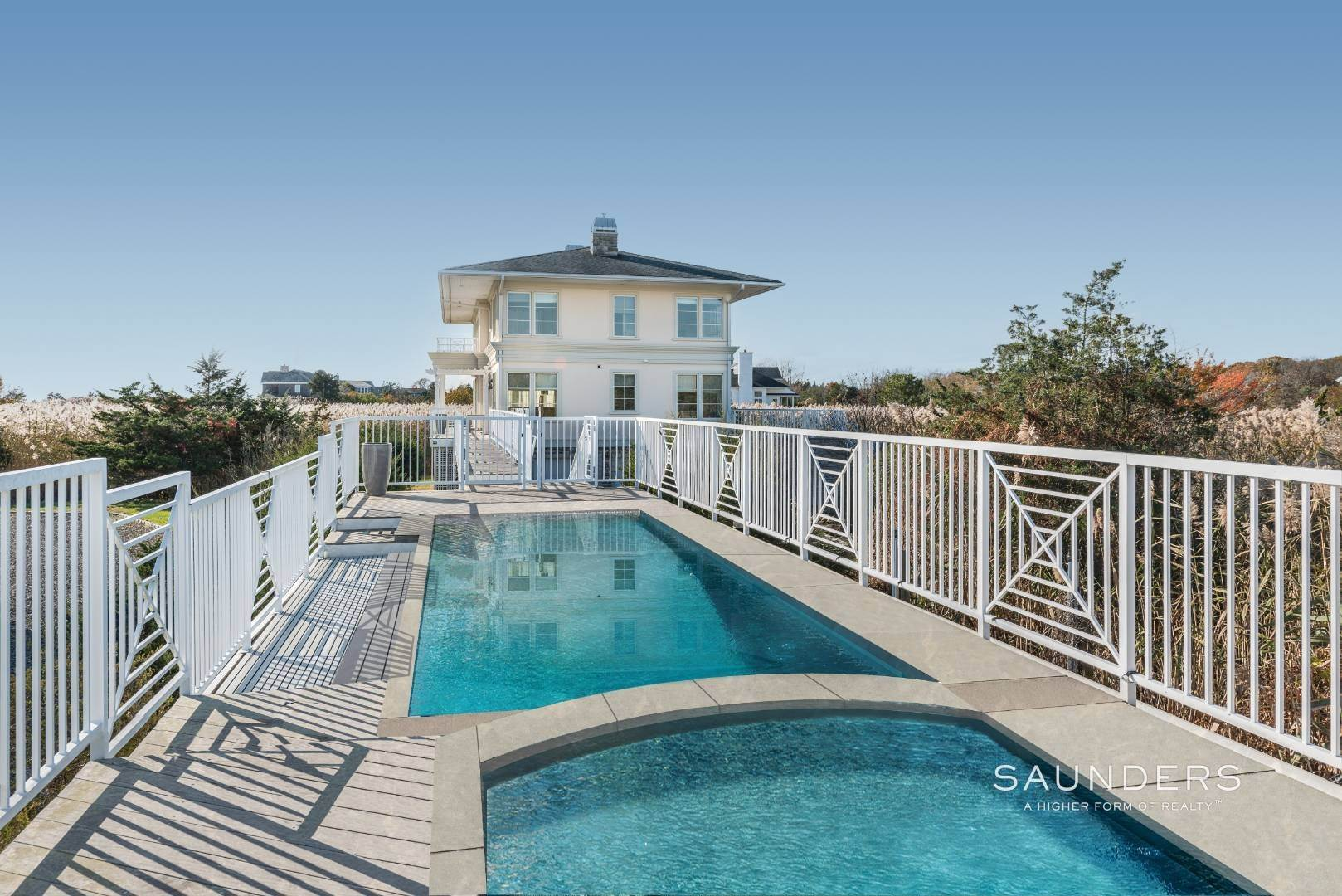 6. Single Family Homes for Sale at Celebrate Nature's Beauty: Sunsets, Water Views, Pool & Dock 5 Bay Meadow Lane, Westhampton, Southampton Town, NY 11977