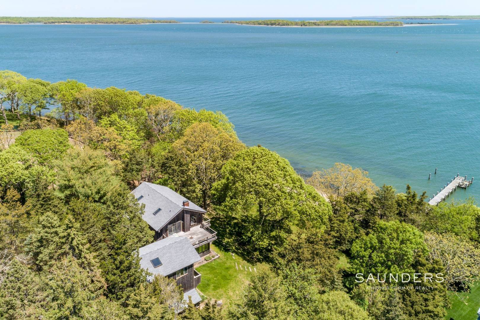 12. Single Family Homes for Sale at 1.3 Waterfront Acres With Dock And Approved Site Plan 20 Forest Road, Sag Harbor, Southampton Town, NY 11963