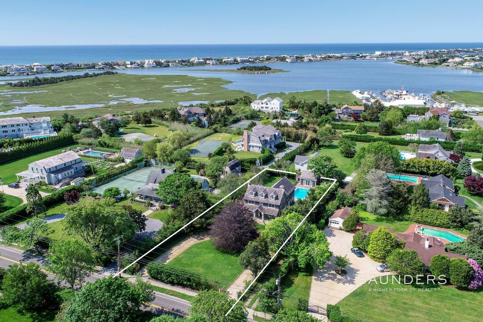 Single Family Homes at Turnkey Renovated Village Traditional Only Half Mile To Ocean 87 Beach Lane, Westhampton Beach Village, Southampton Town, NY 11978