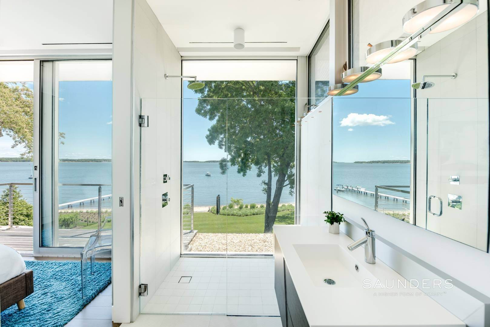 11. Single Family Homes for Sale at Modern Waterfront 15 Mashomuck Drive, Sag Harbor, Southampton Town, NY 11963