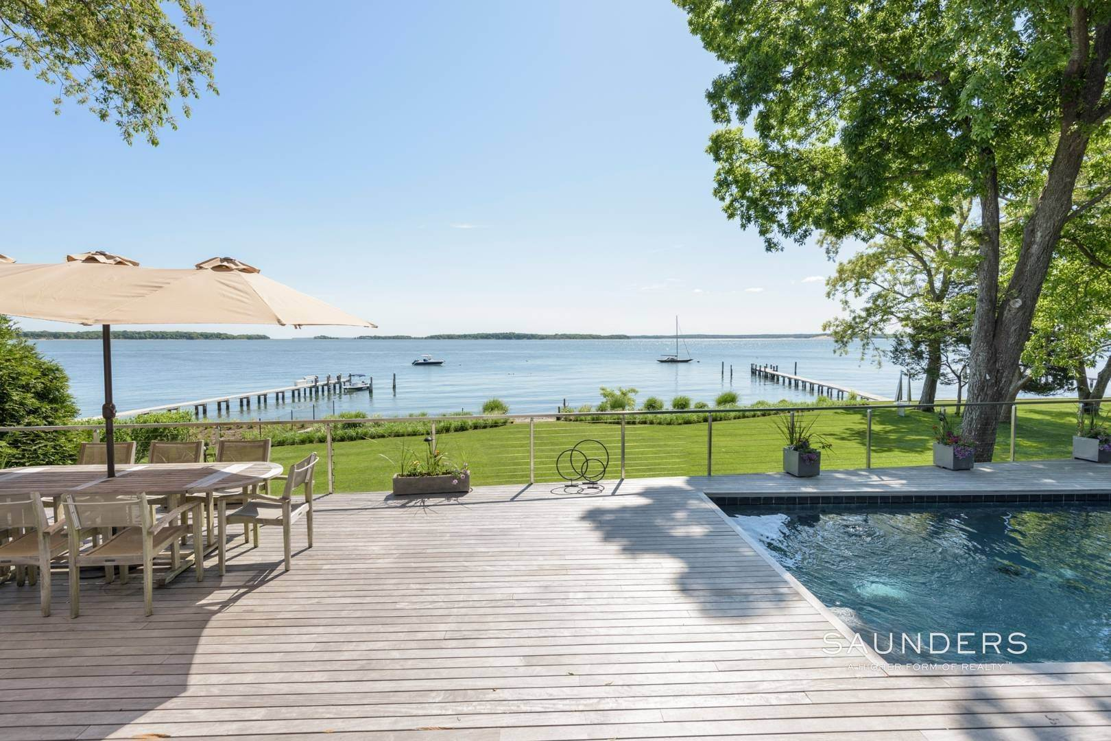 6. Single Family Homes for Sale at Modern Waterfront 15 Mashomuck Drive, Sag Harbor, Southampton Town, NY 11963