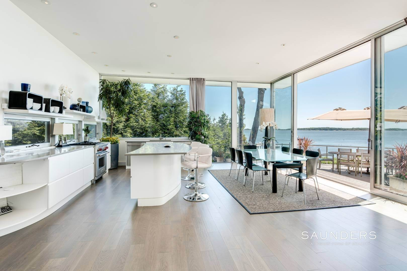 4. Single Family Homes for Sale at Modern Waterfront 15 Mashomuck Drive, Sag Harbor, Southampton Town, NY 11963