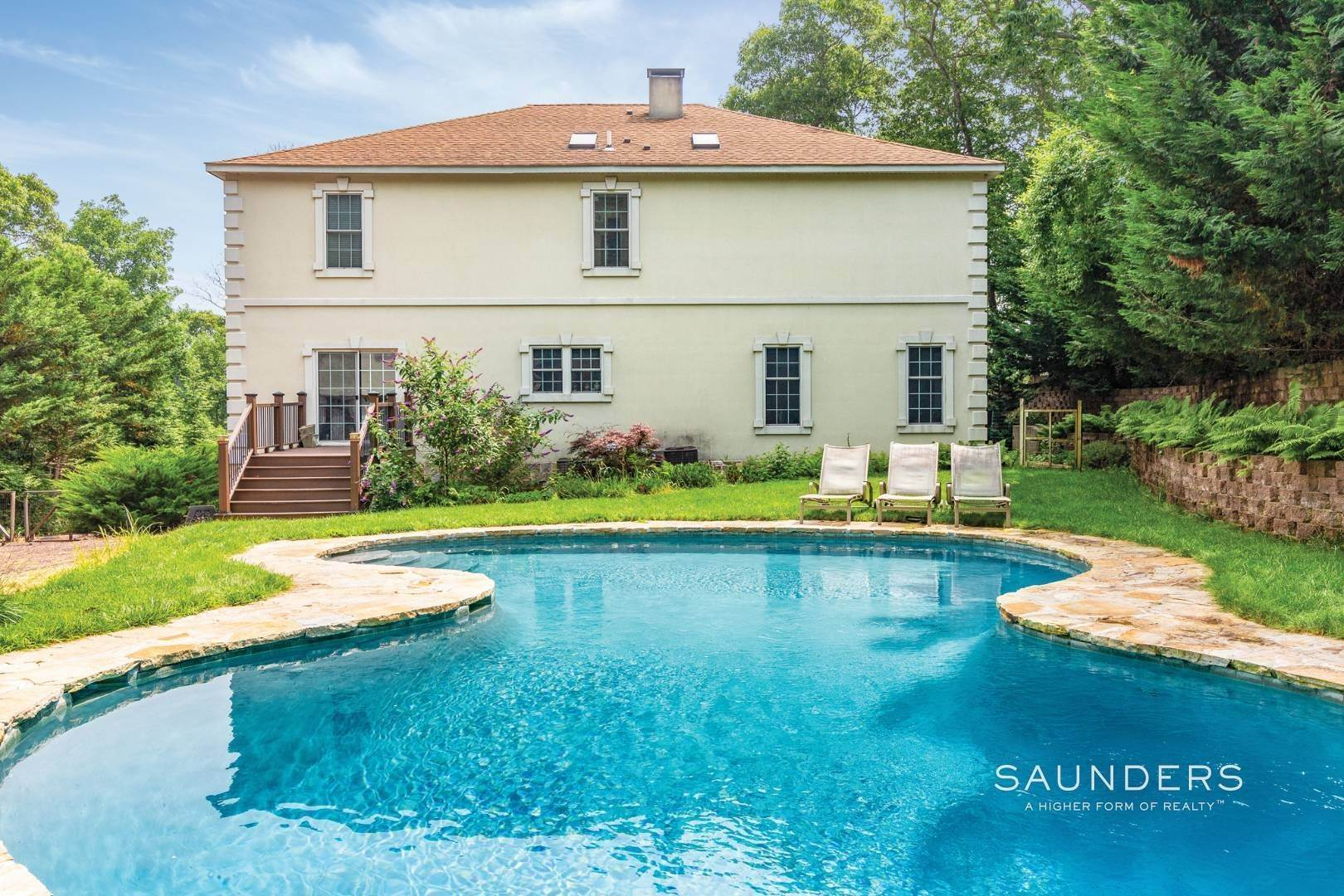 6. Single Family Homes for Sale at Pristine Traditional In Desirable Hampton Waters Community 81 Oyster Shores Road, East Hampton, East Hampton Town, NY 11937