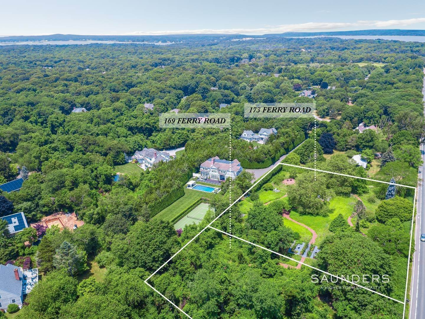Land for Sale at Two Contiguous Sag Harbor Building Lots/Create A Family Compound 169 And 173 Ferry Road, Sag Harbor, Southampton Town, NY 11963