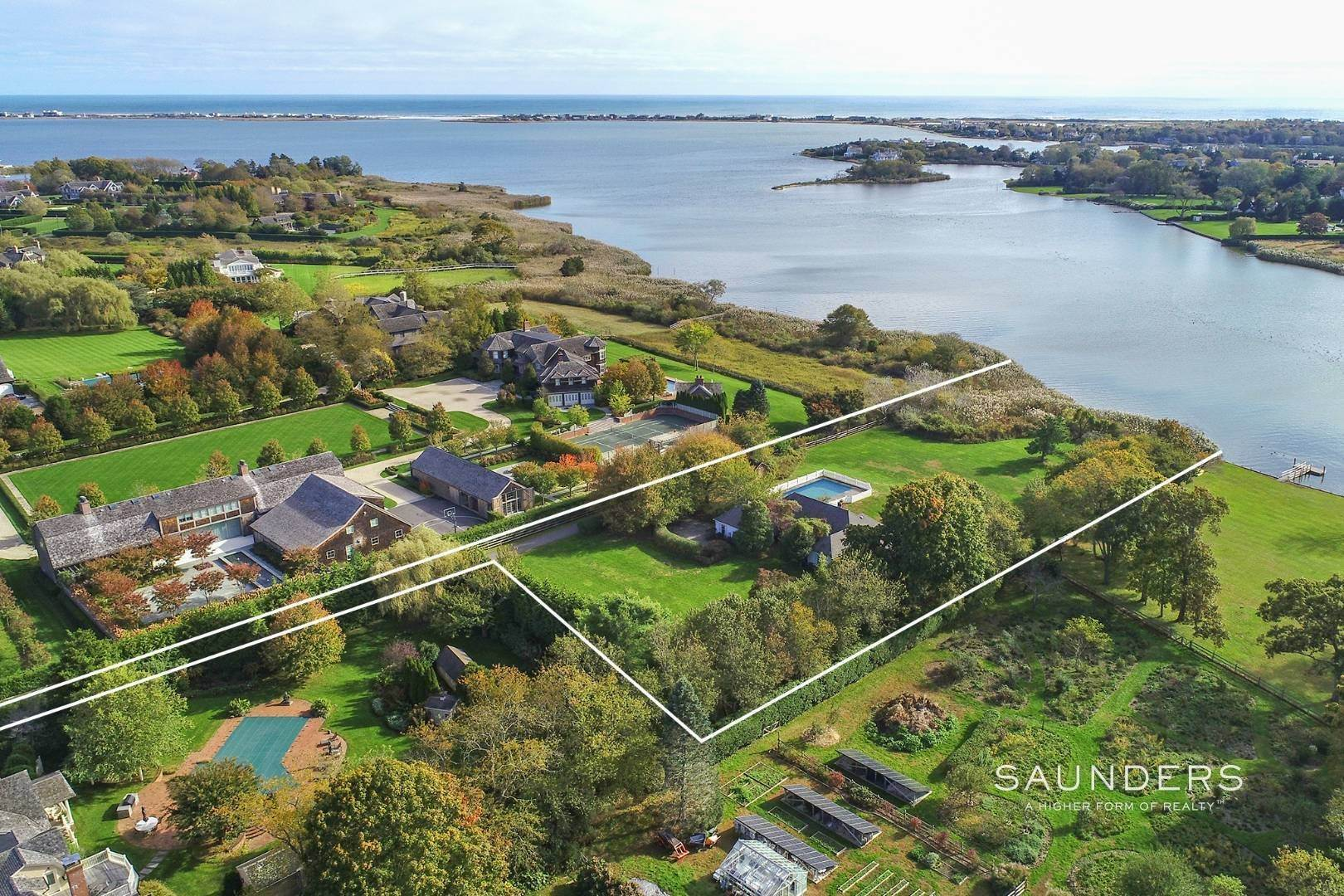 2. Single Family Homes for Sale at Rarified Waterfront Parcel 127 Halsey Lane, Water Mill, Southampton Town, NY 11976