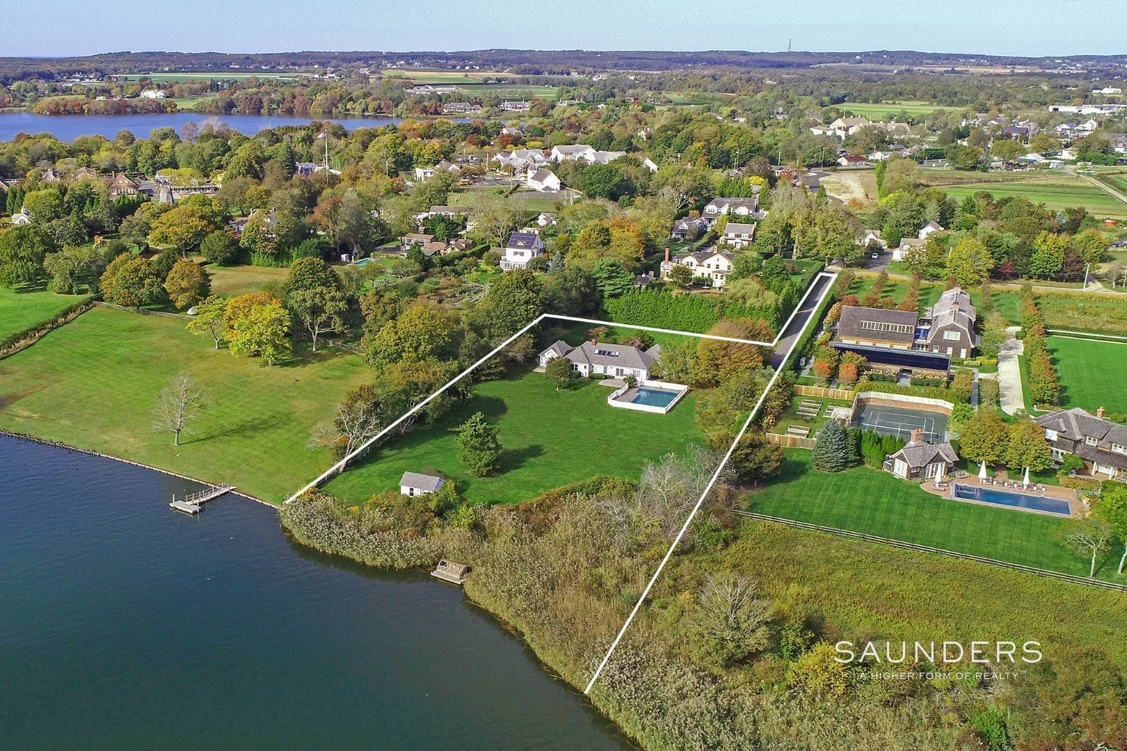 Single Family Homes for Sale at Rarified Waterfront Parcel 127 Halsey Lane, Water Mill, Southampton Town, NY 11976