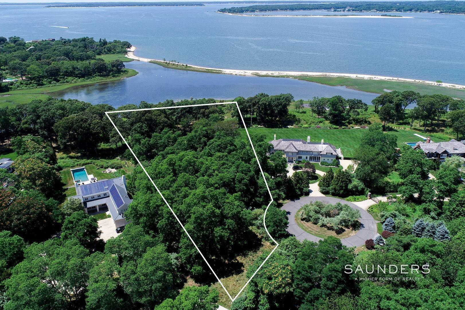 Land for Sale at Western Waterfront Sunsets In North Haven Point 31 Ezekills Hollow, Sag Harbor, Southampton Town, NY 11963
