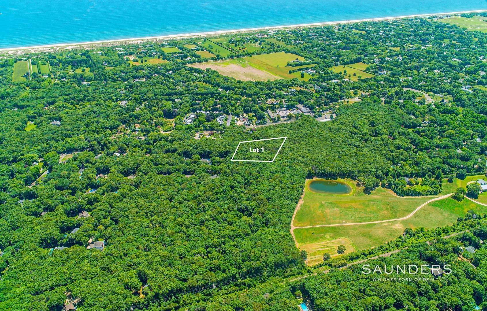 Land for Sale at Estate-Caliber Village Fringe Building Parcel 491 Pantigo Road, Lot 1, East Hampton, East Hampton Town, NY 11937