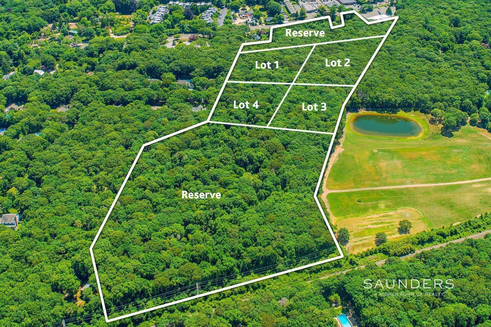 2. Land for Sale at Rare 4-Lot Development Opportunity 491 Pantigo Road, East Hampton, East Hampton Town, NY 11937