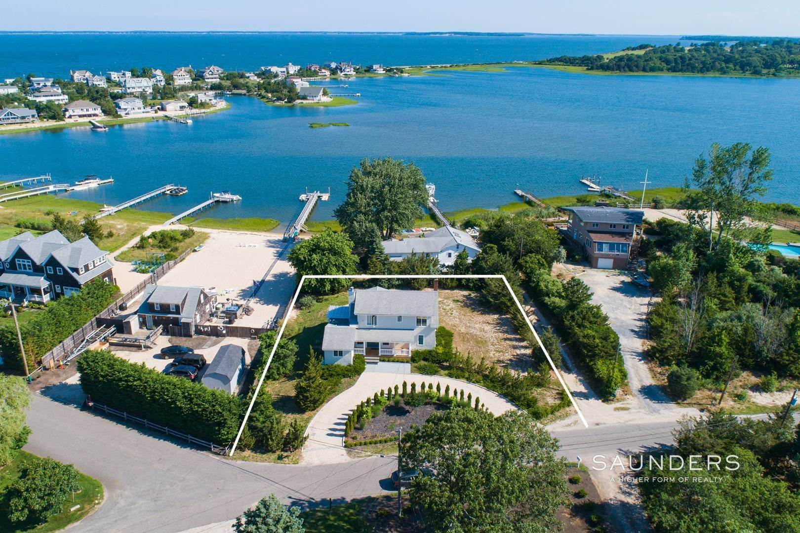 Single Family Homes for Sale at Renovated Beach House 39 Inlet Road East, Southampton, Southampton Town, NY 11968