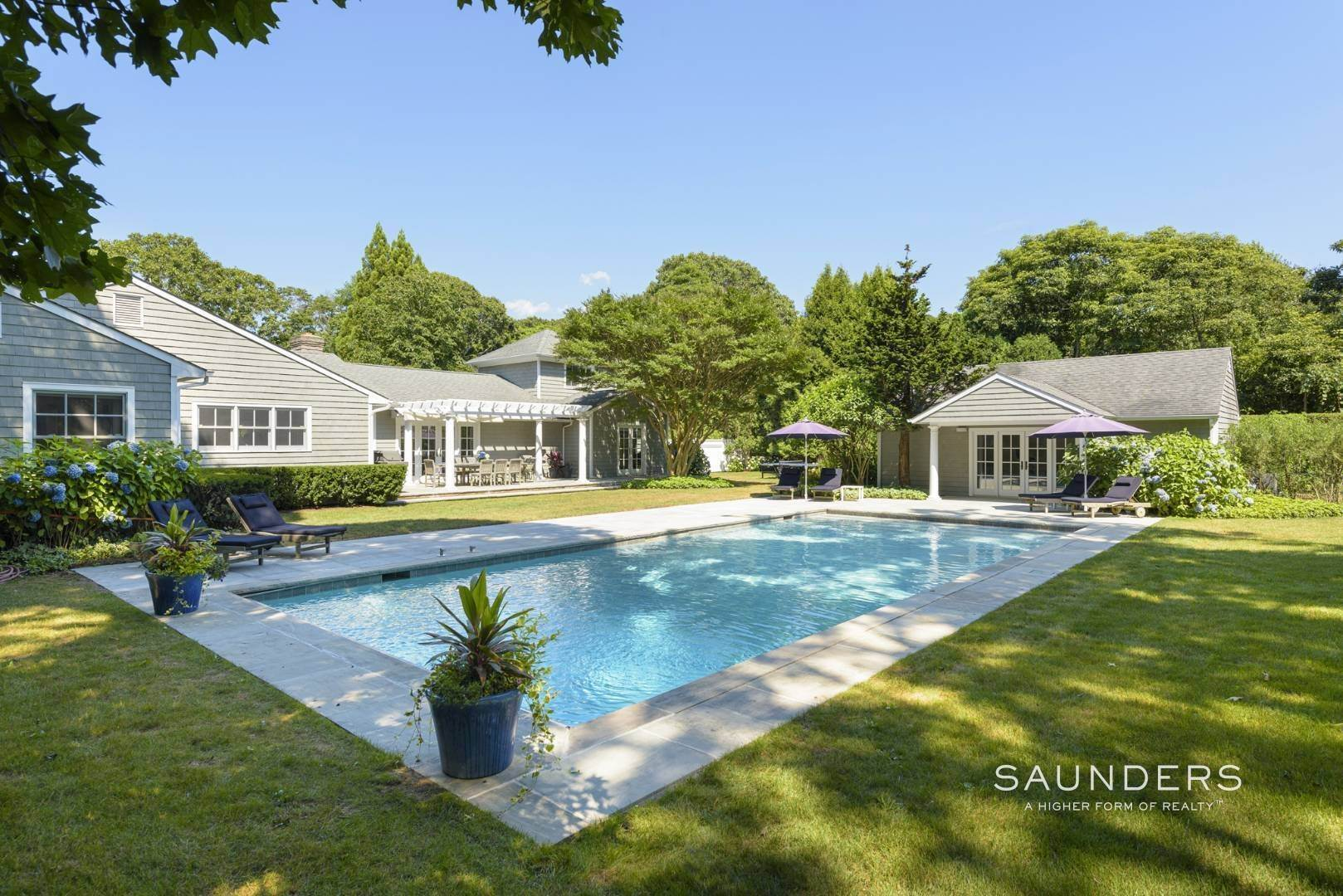 Single Family Homes for Sale at Spacious Postmodern With Pool And Lush Landscape 77 Sebonac Inlet Road, Southampton, Southampton Town, NY 11968
