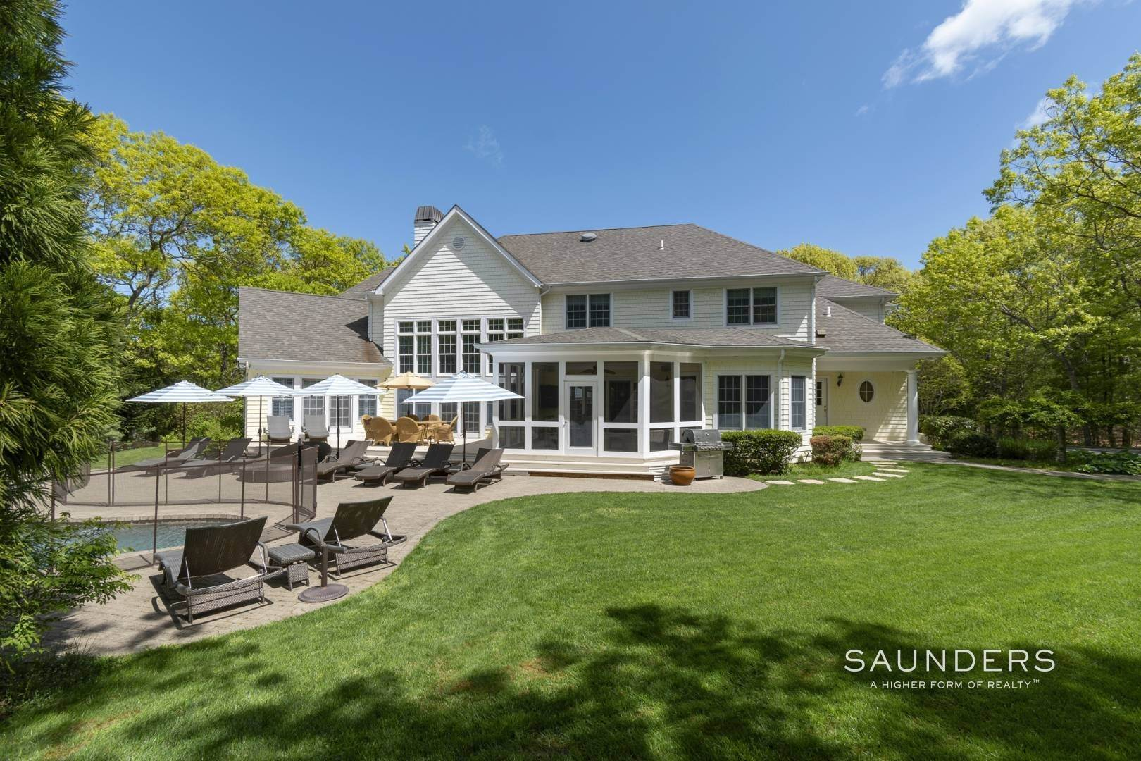 Single Family Homes for Sale at East Hampton Gated With Pool On 2 Acres 13 Old Hollow Lane, East Hampton, East Hampton Town, NY 11937