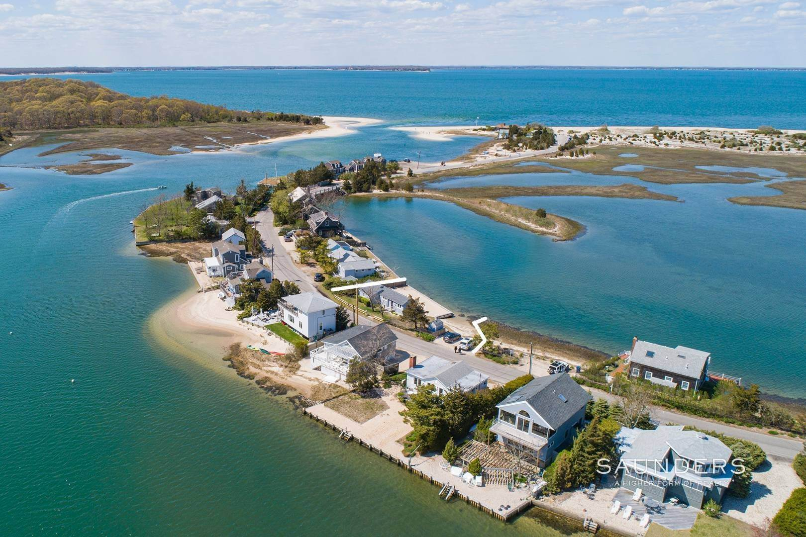 3. Single Family Homes for Sale at Put Your Feet In Sand On Your Own Beach 267 Towd Point Road, Southampton, Southampton Town, NY 11968