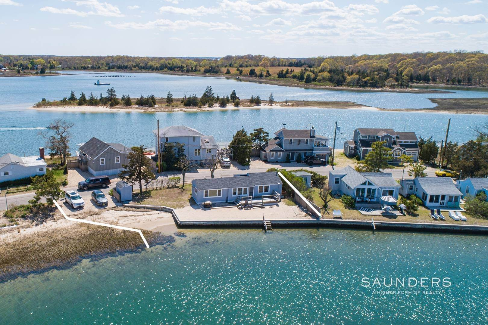 Single Family Homes for Sale at Put Your Feet In Sand On Your Own Beach 267 Towd Point Road, Southampton, Southampton Town, NY 11968