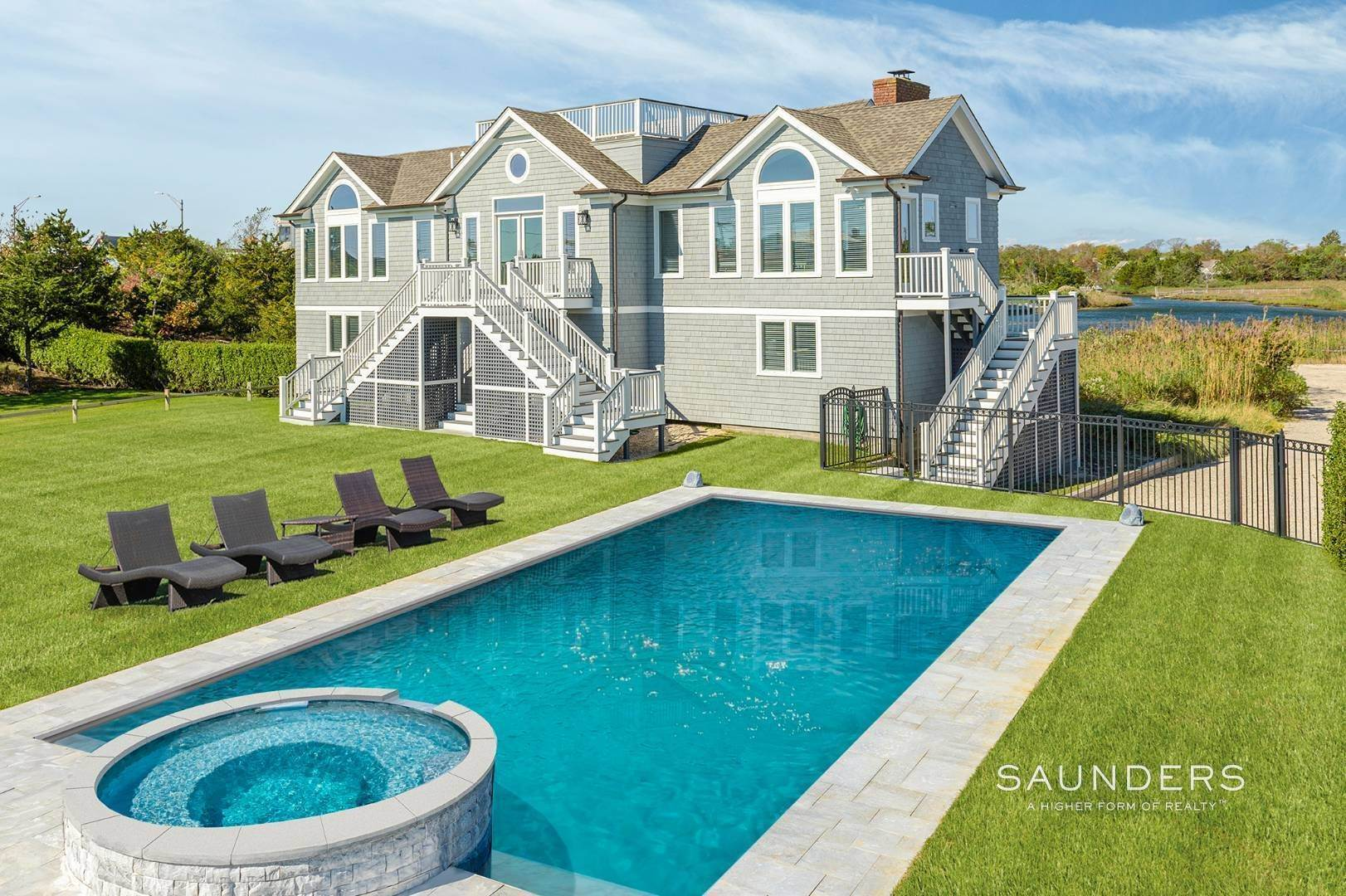Single Family Homes for Sale at Quogue Waterfront Beauty 115 Dune Road, Quogue Village, Southampton Town, NY 11959