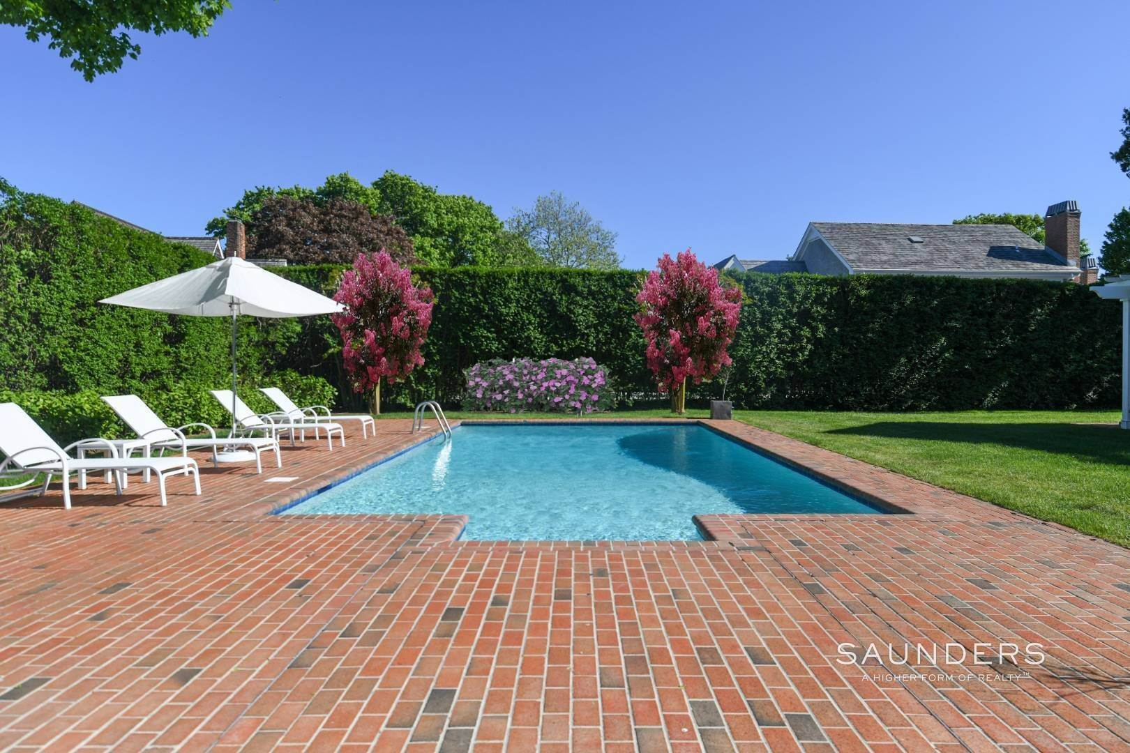 4. Single Family Homes for Sale at Perfect Southampton Village Home With Pool Southampton, Southampton Town, NY 11968