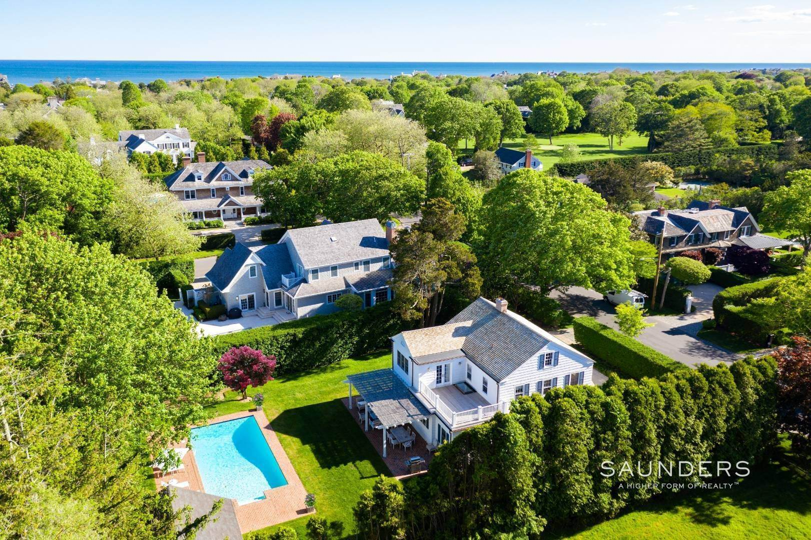 22. Single Family Homes for Sale at Perfect Southampton Village Home With Pool Southampton, Southampton Town, NY 11968