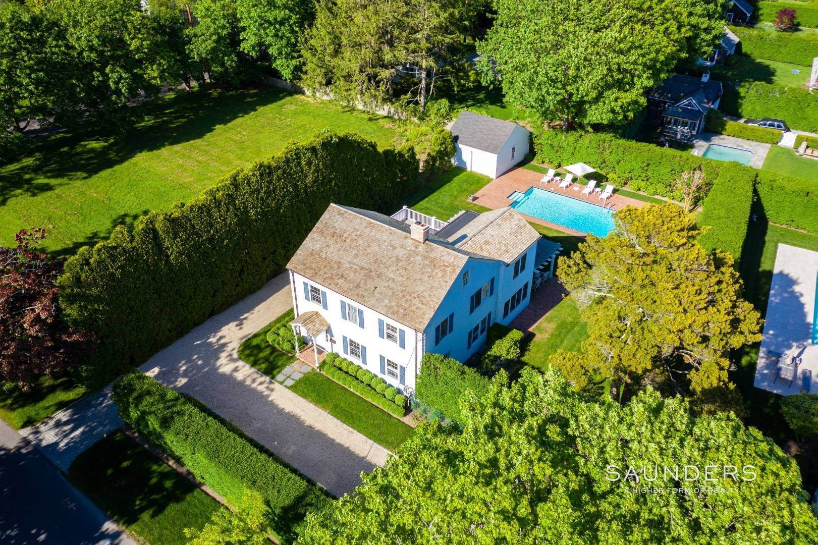 23. Single Family Homes for Sale at Perfect Southampton Village Home With Pool Southampton, Southampton Town, NY 11968