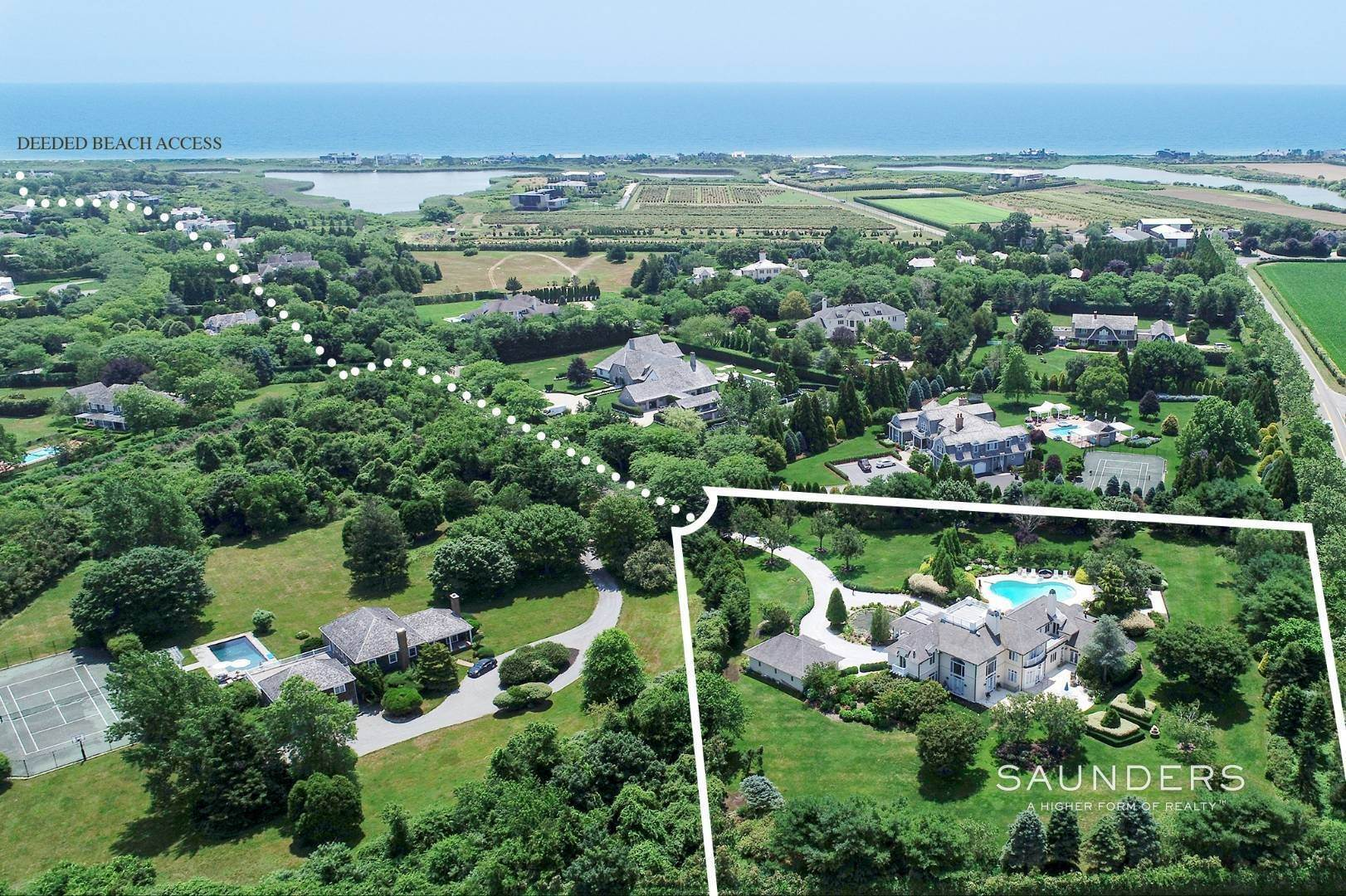 Single Family Homes for Sale at Elegant Classic Fordune Water Mill Estate 25 Fordune Court, Water Mill, Southampton Town, NY 11976