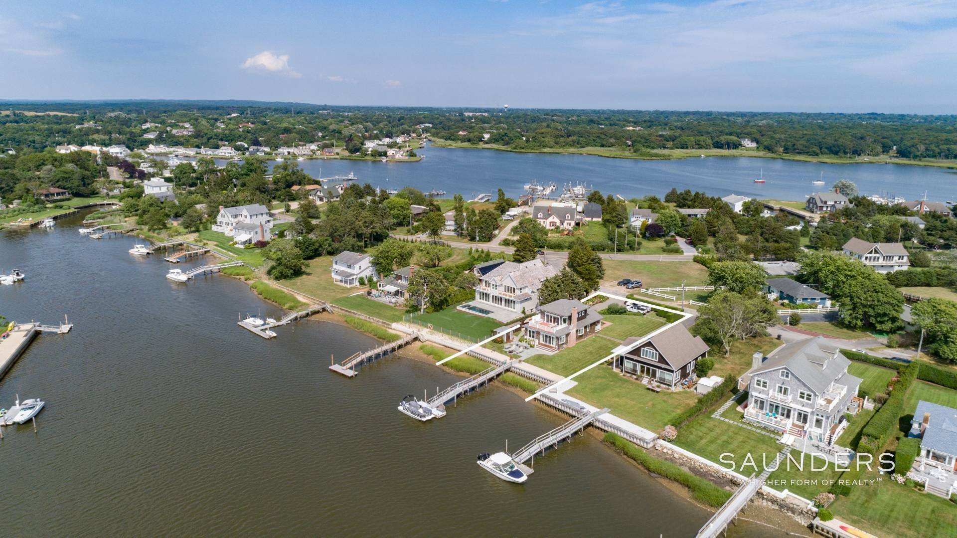 Single Family Homes for Sale at Southampton Waterfront With Dock 7 Middle Pond Lane, Southampton, Southampton Town, NY 11968