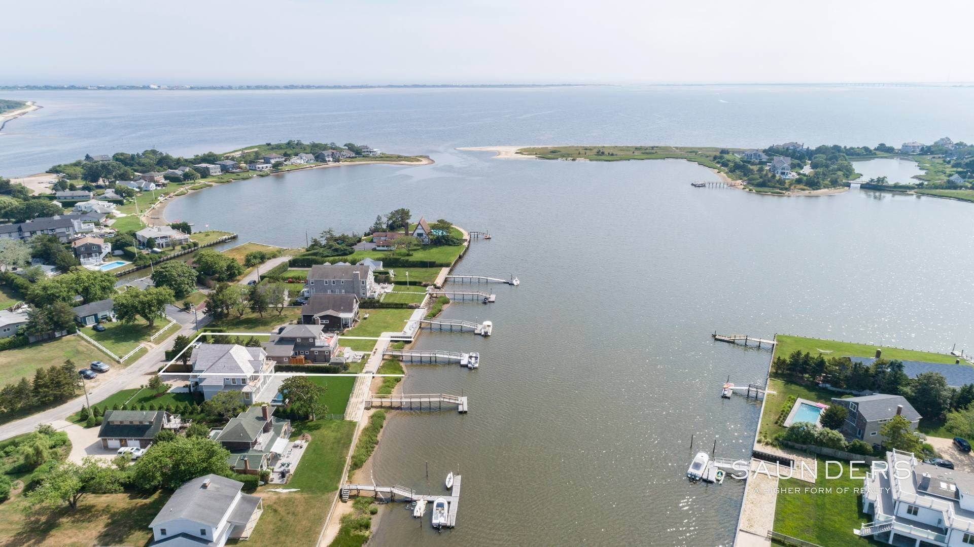 2. Single Family Homes for Sale at Southampton Waterfront With Dock 7 Middle Pond Lane, Southampton, Southampton Town, NY 11968