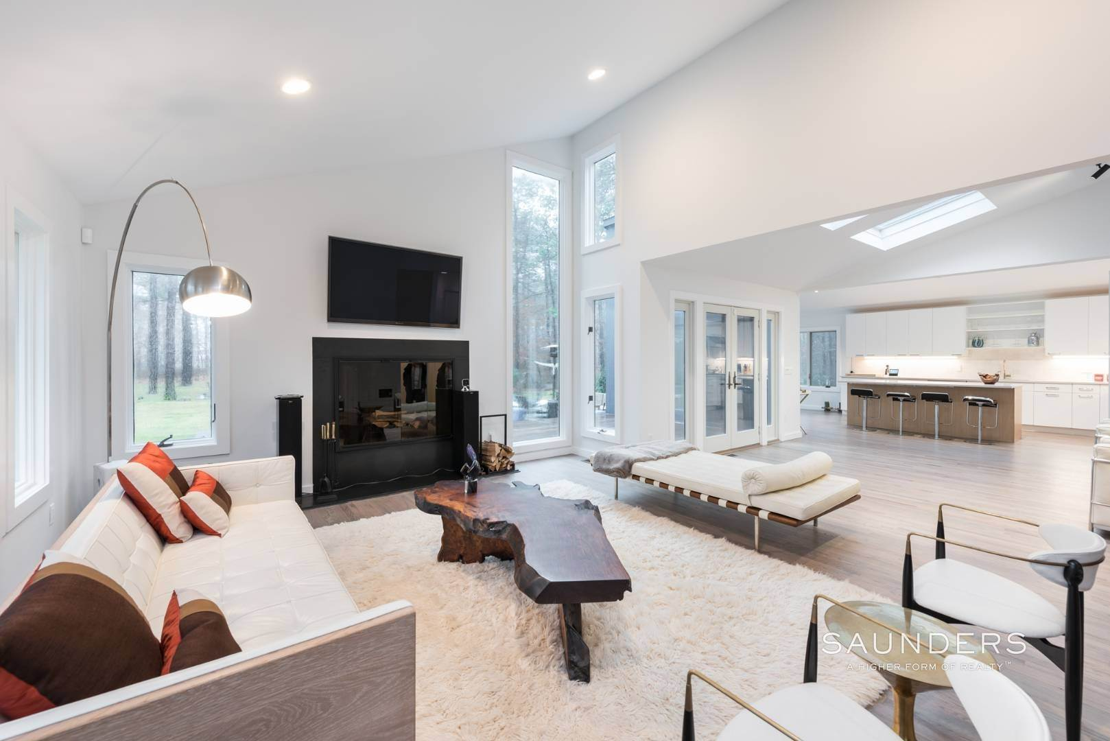 5. Single Family Homes for Sale at Sagaponack Impeccable Newly Renovated Contemporary 877 Sagg Road, Sagaponack, Southampton Town, NY 11962