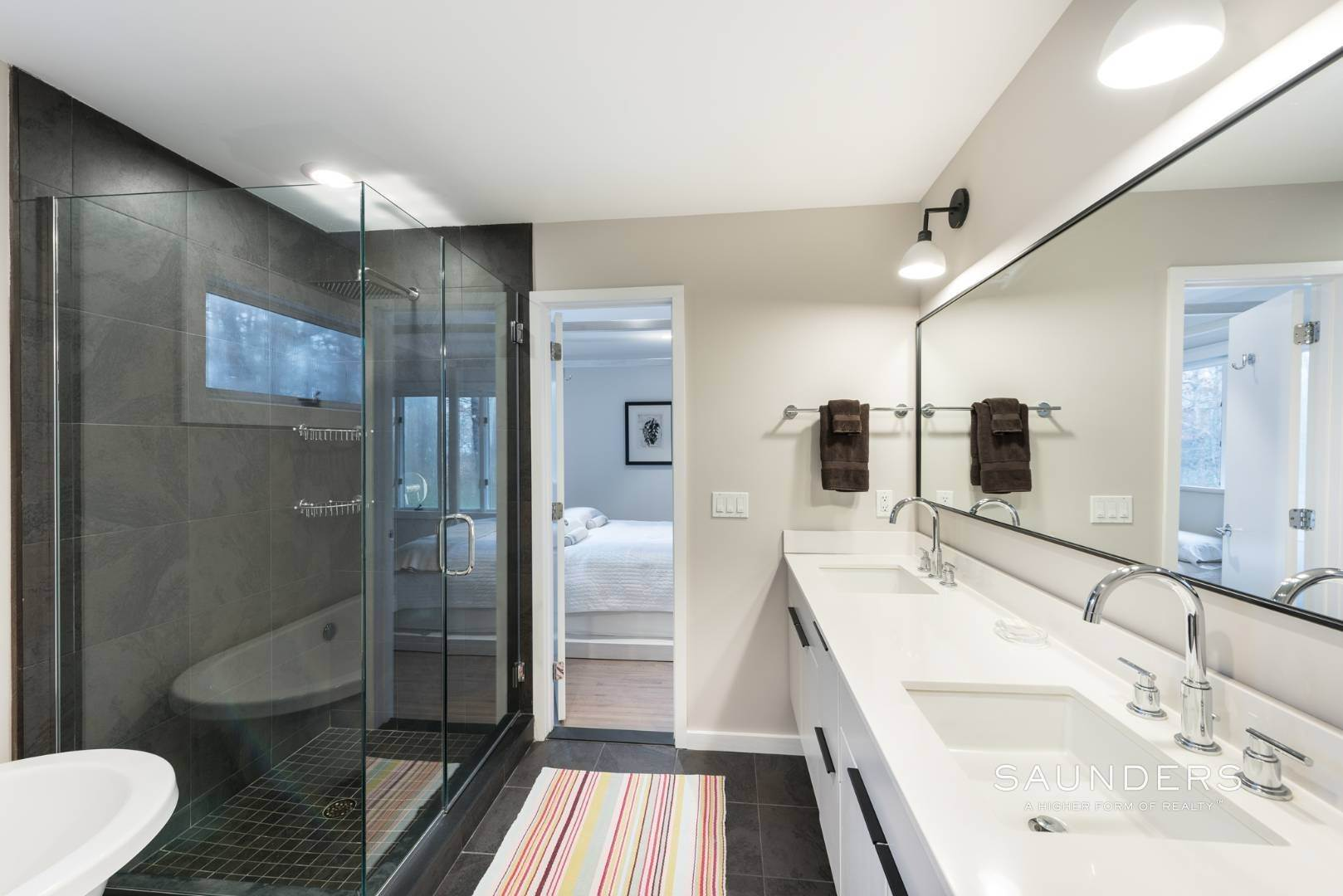 12. Single Family Homes for Sale at Sagaponack Impeccable Newly Renovated Contemporary 877 Sagg Road, Sagaponack, Southampton Town, NY 11962