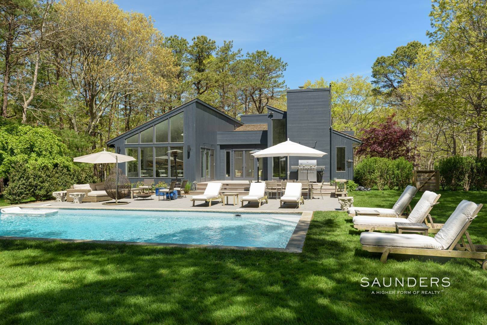 Single Family Homes for Sale at Sagaponack Impeccable Newly Renovated Contemporary 877 Sagg Road, Sagaponack, Southampton Town, NY 11962