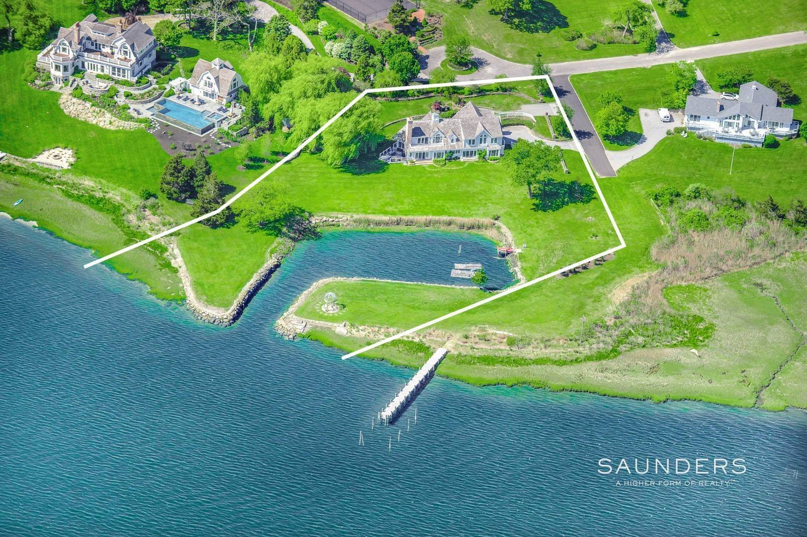 Single Family Homes for Sale at Shelter Island Harborfront Classic 7 Lari Lane, Shelter Island, NY 11964
