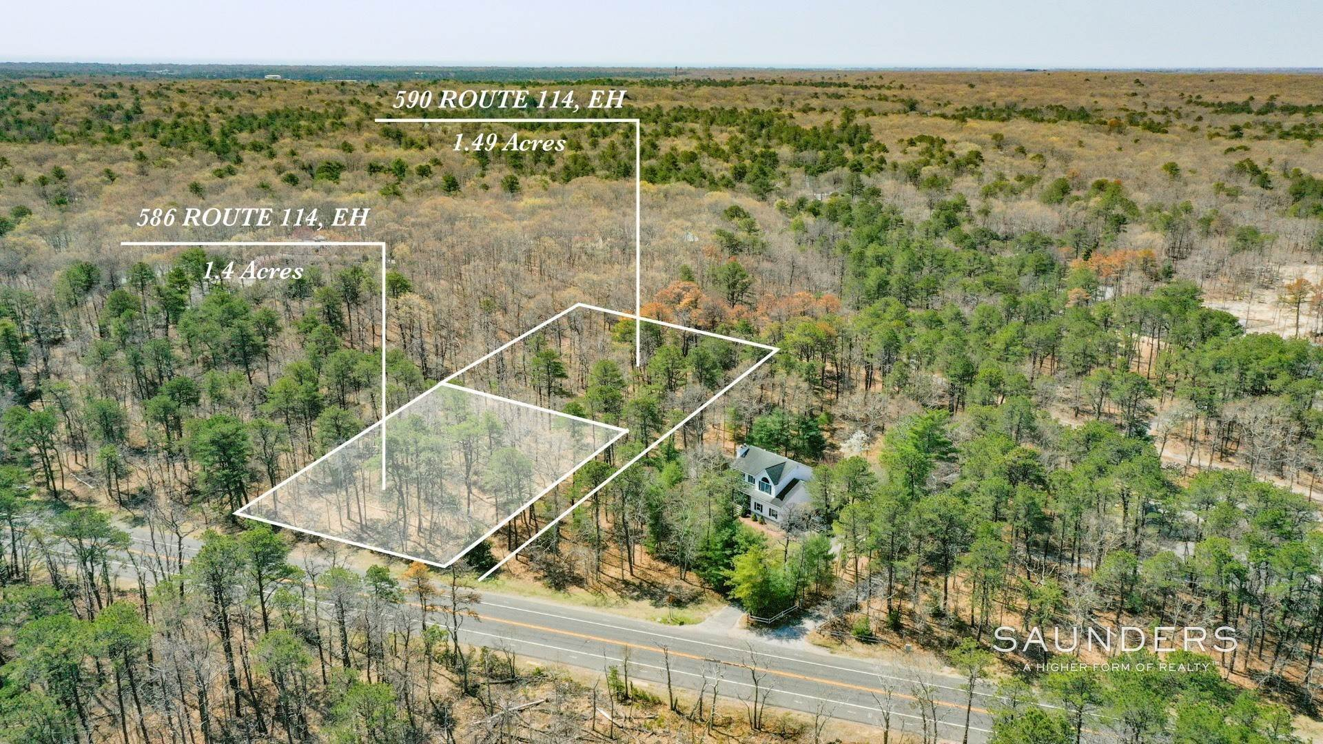 Land for Sale at East Hampton Land Opportunity 590 Route 114, Wainscott, East Hampton Town, NY 11937