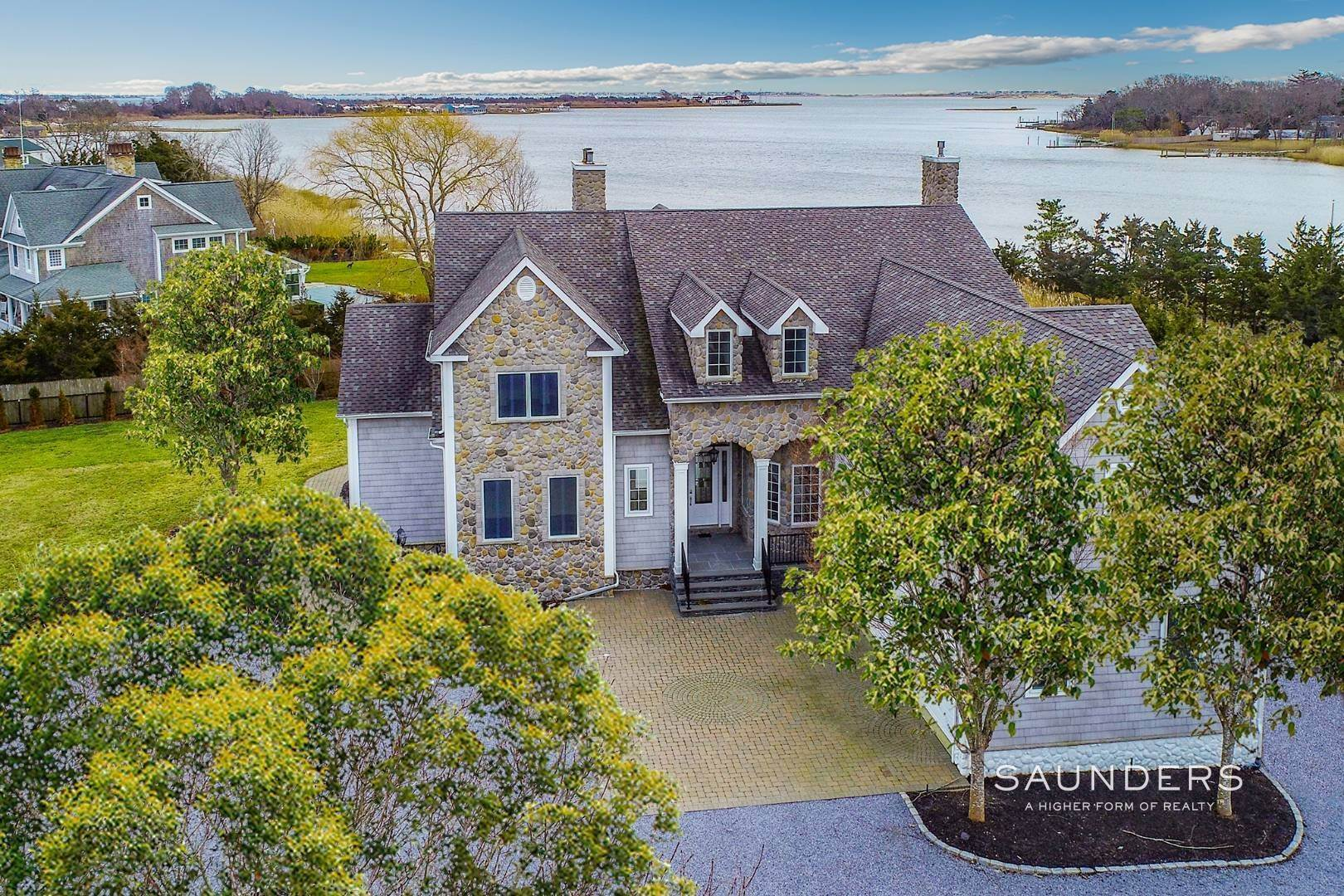 Single Family Homes for Sale at Waterfront Estate 99 Paquatuck Avenue, East Moriches, Hamptons Fringe, NY 11940