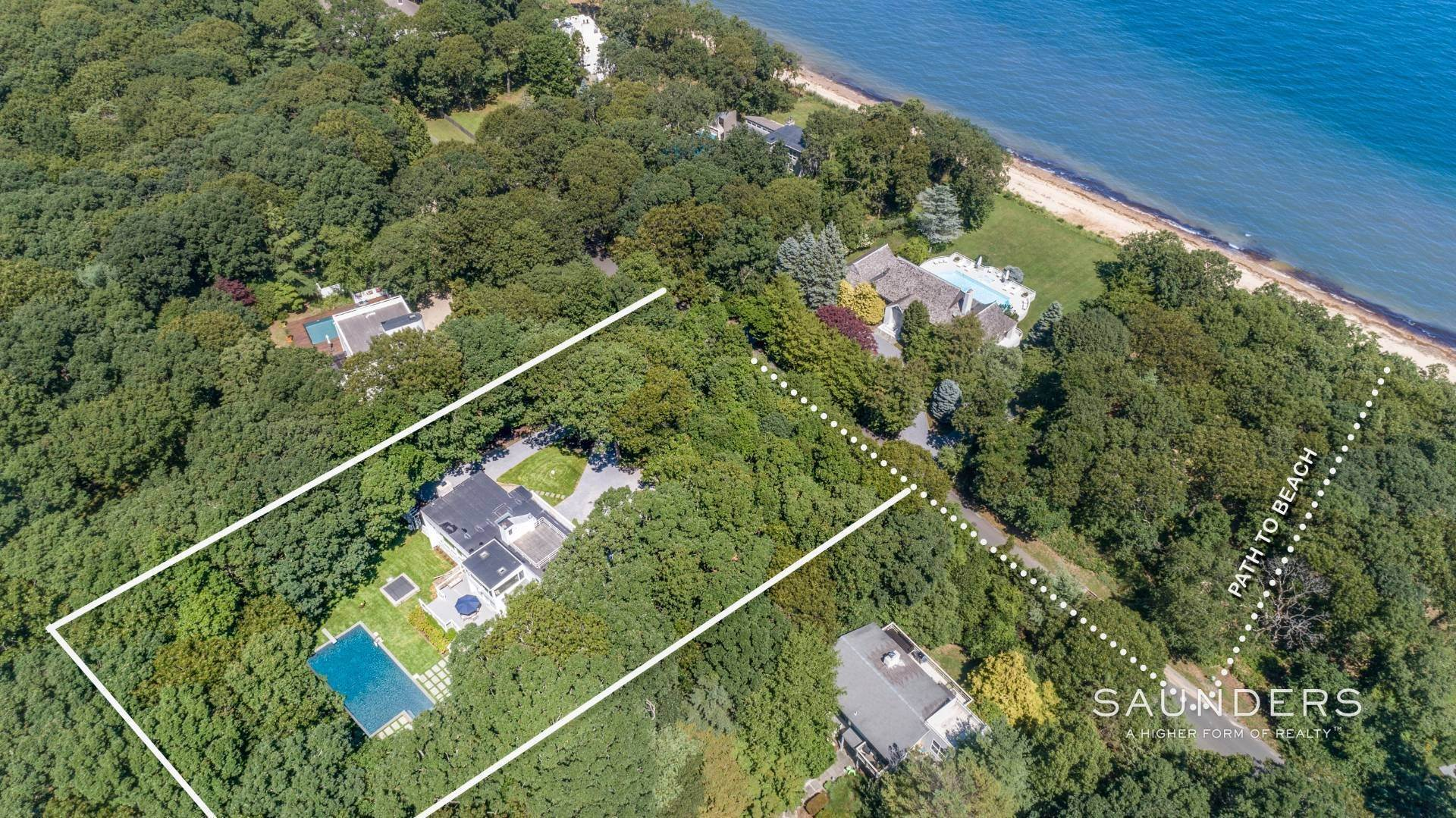Single Family Homes for Sale at Spectacular In A Private Beach Community 29 Hedges Banks Drive, East Hampton, East Hampton Town, NY 11937