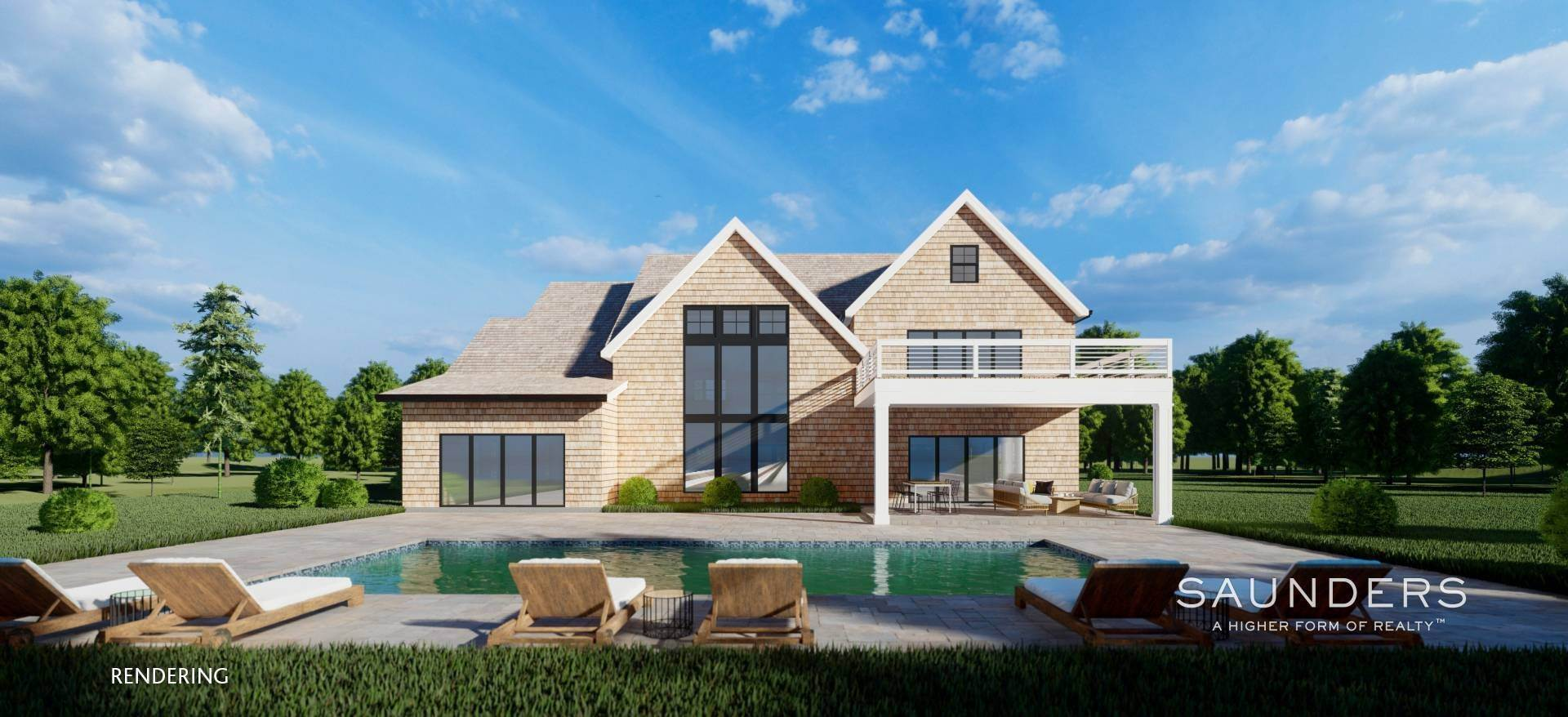 9. Single Family Homes for Sale at Sagaponack New Construction With Pool And Tennis 21 Forest Crossing, Sagaponack, Southampton Town, NY 11962