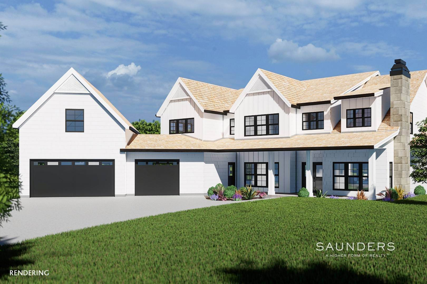 Single Family Homes for Sale at Sagaponack New Construction With Pool And Tennis 21 Forest Crossing, Sagaponack, Southampton Town, NY 11962
