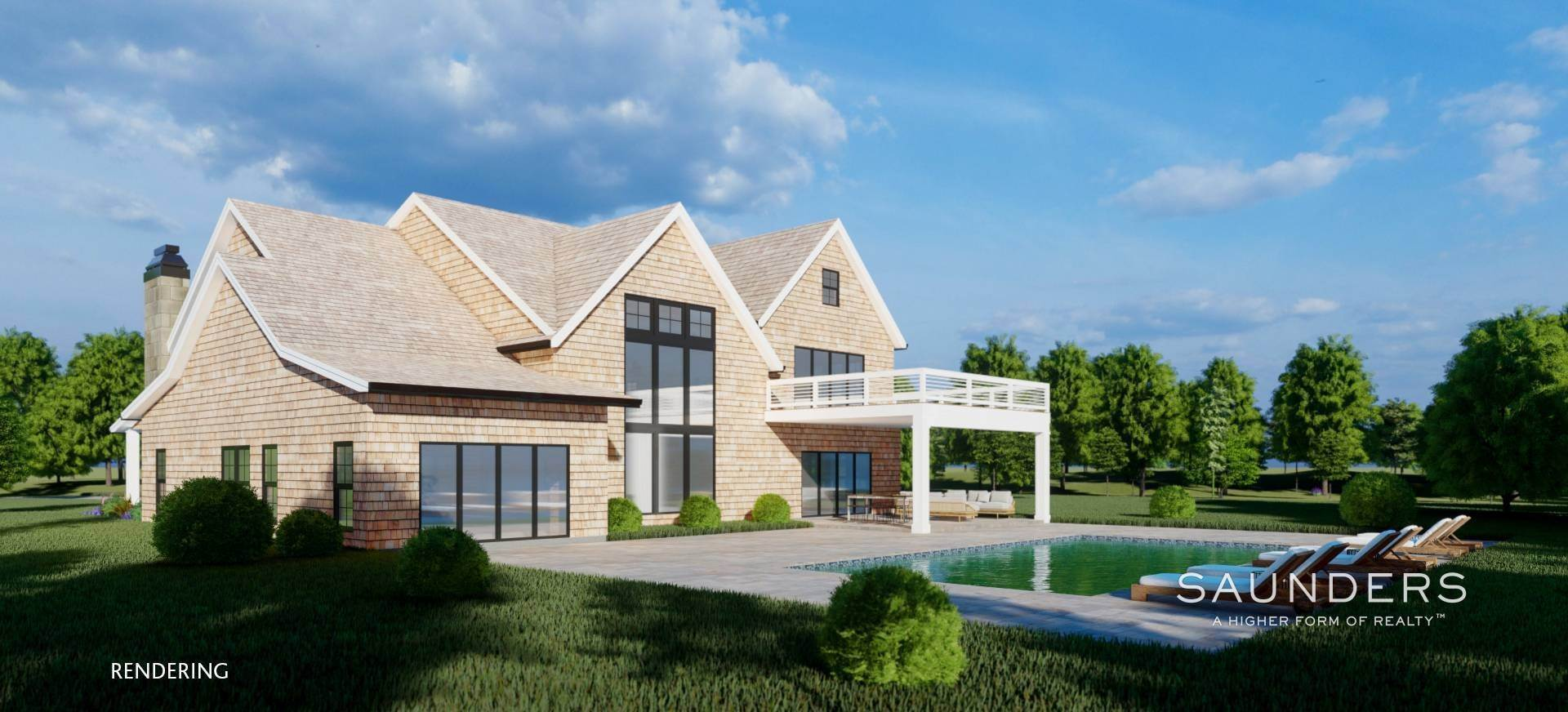 10. Single Family Homes for Sale at Sagaponack New Construction With Pool And Tennis 21 Forest Crossing, Sagaponack, Southampton Town, NY 11962