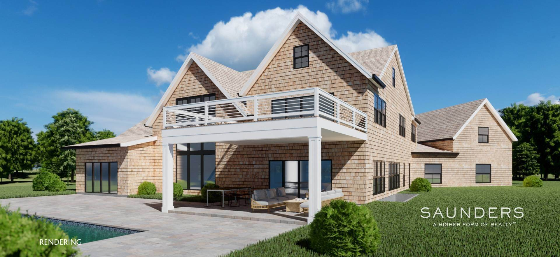 8. Single Family Homes for Sale at Sagaponack New Construction With Pool And Tennis 21 Forest Crossing, Sagaponack, Southampton Town, NY 11962