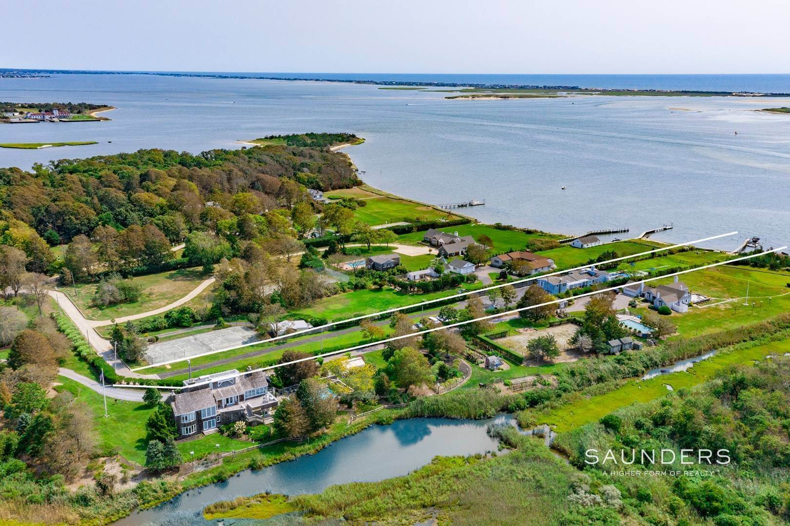Multi-Family Homes for Sale at Beach Front With Views Of Dune Road And The Moriches Inlet 50 Tuthill Point Road, East Moriches, Hamptons Fringe, NY 11940