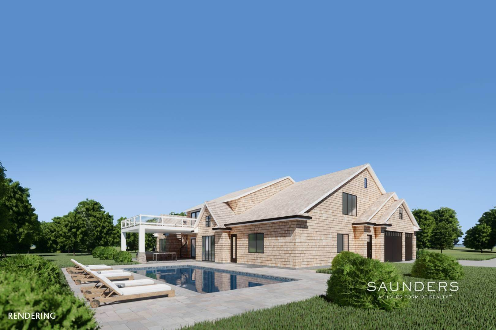 11. Single Family Homes for Sale at New Construction In Sagaponack With Pool 26 Forest Crossing, Sagaponack, Southampton Town, NY 11962