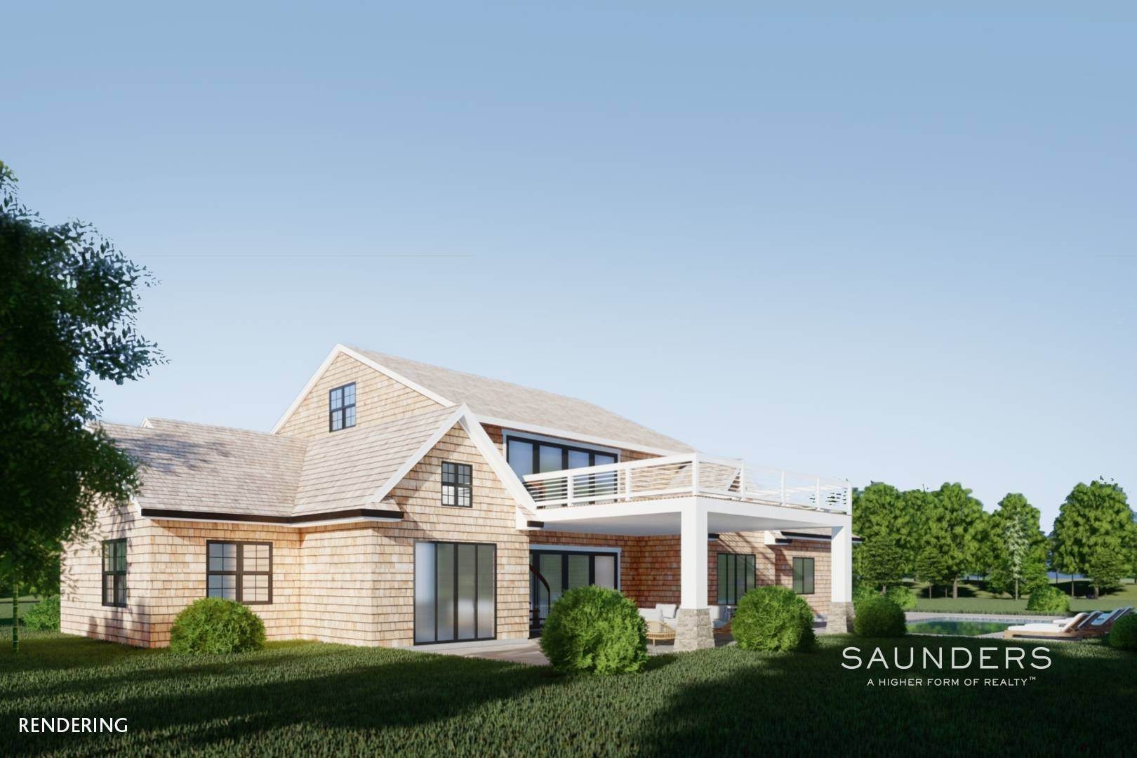 9. Single Family Homes for Sale at New Construction In Sagaponack With Pool 26 Forest Crossing, Sagaponack, Southampton Town, NY 11962