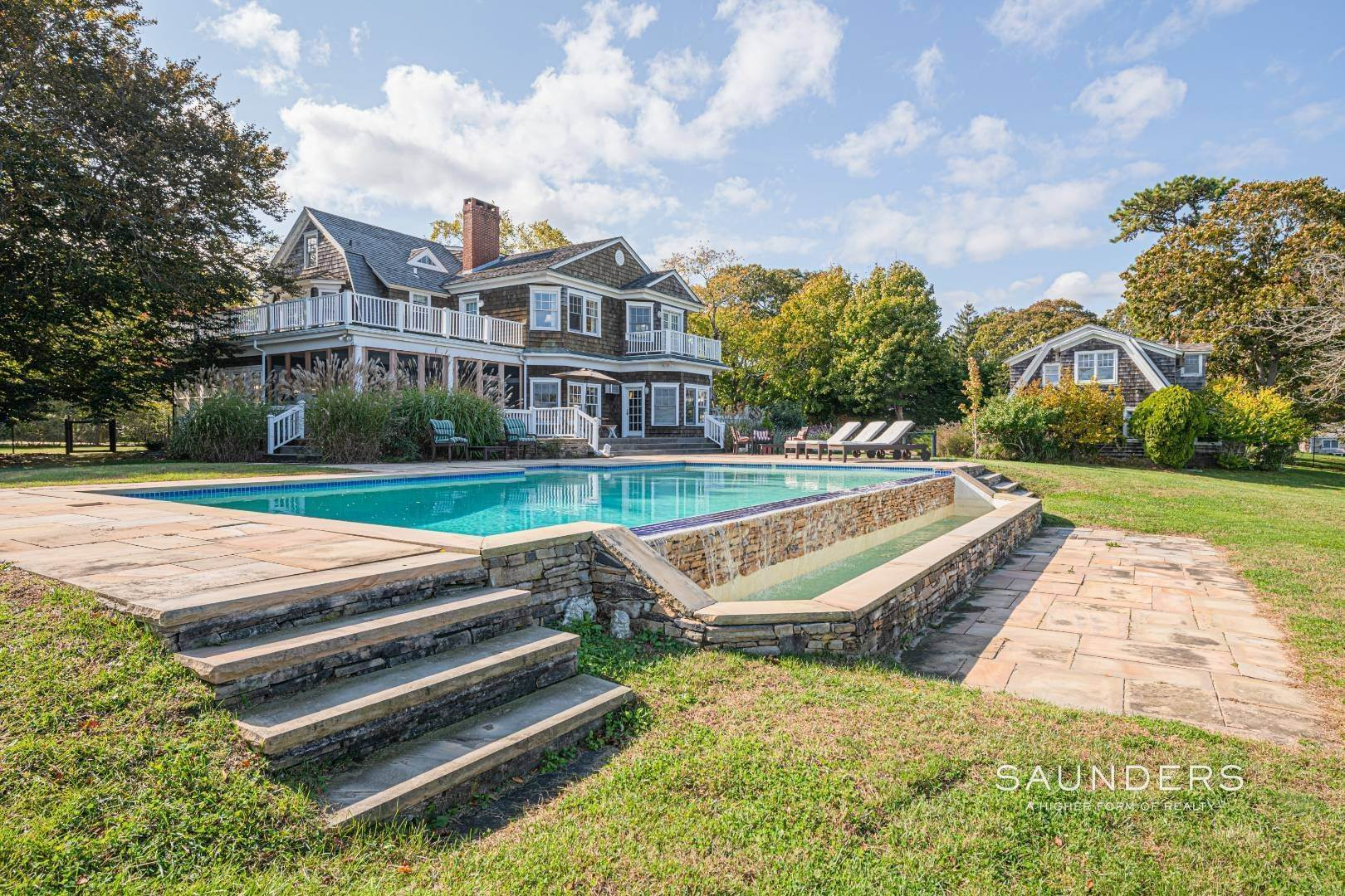 8. Single Family Homes for Sale at South Of Highway Waterfront Traditional In Quogue 21 Old Point Road, Quogue Village, Southampton Town, NY 11959