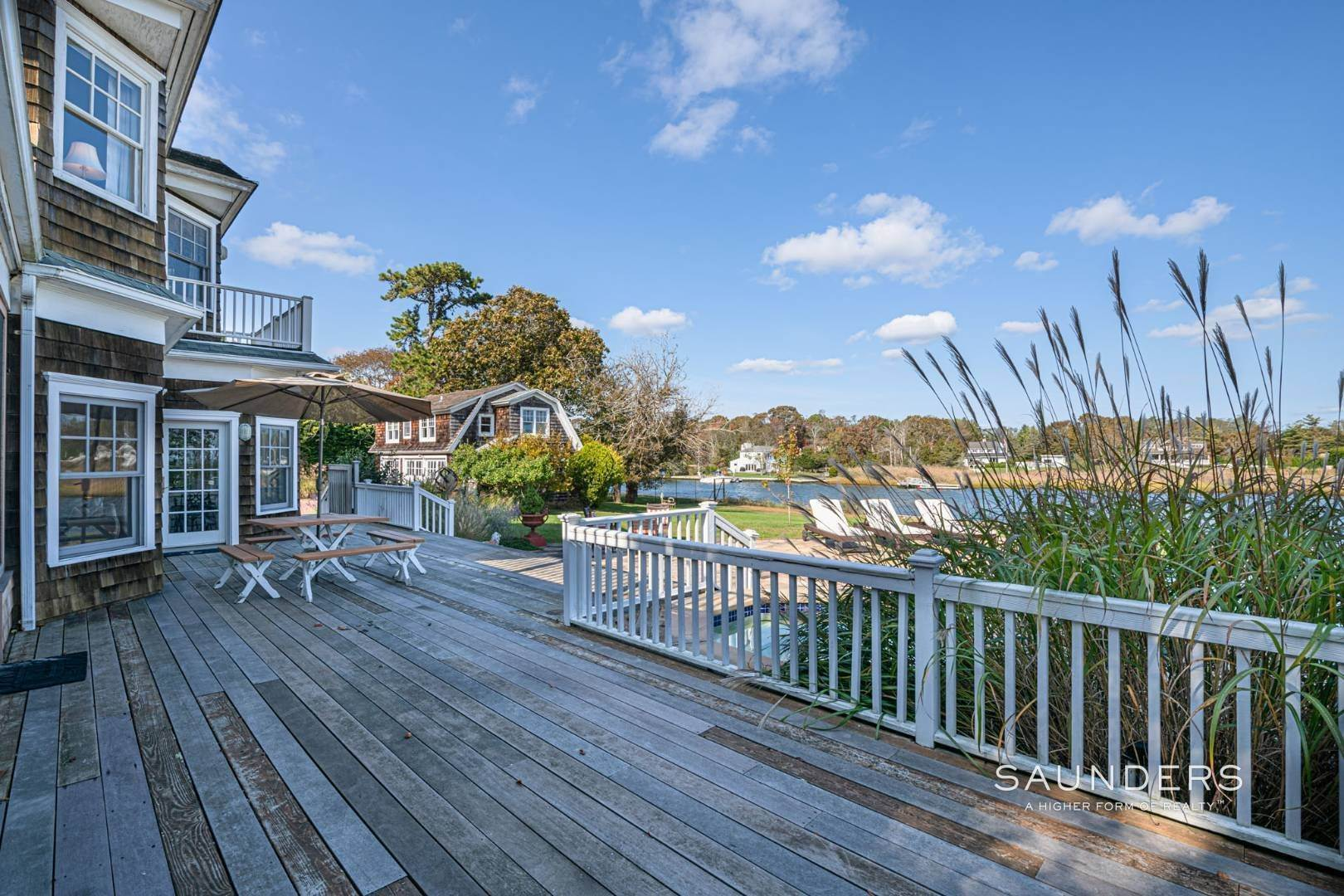 10. Single Family Homes for Sale at South Of Highway Waterfront Traditional In Quogue 21 Old Point Road, Quogue Village, Southampton Town, NY 11959